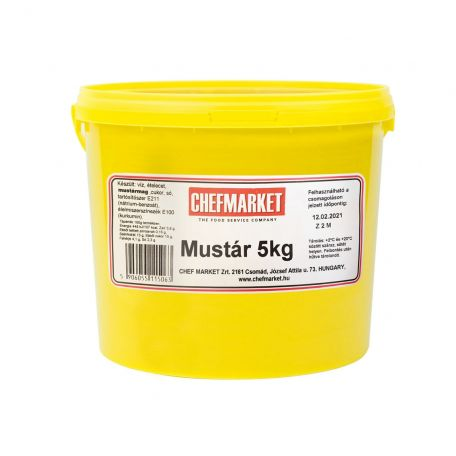 Mustár vödrös 5kg
