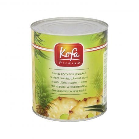 Konzerv ananász szeletelt 3050gr/1790gr