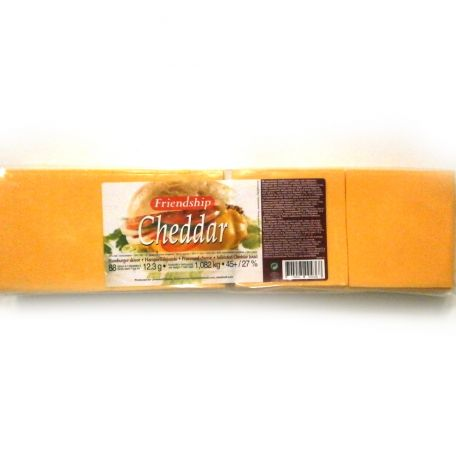 Vörös cheddar lapka sajt szeletelt 88szelet 1,082kg