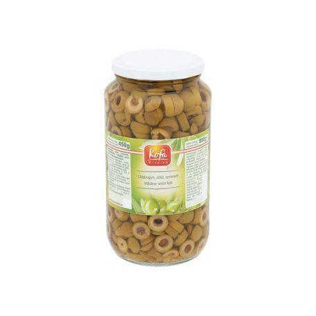 Zöld olívabogyó szeletelt 900/450g