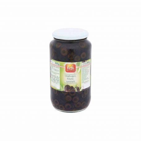 Fekete olívabogyó szeletelt 880/450g