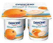 Joghurt sárgabarack könnyű és finom multipack danone 4*125g