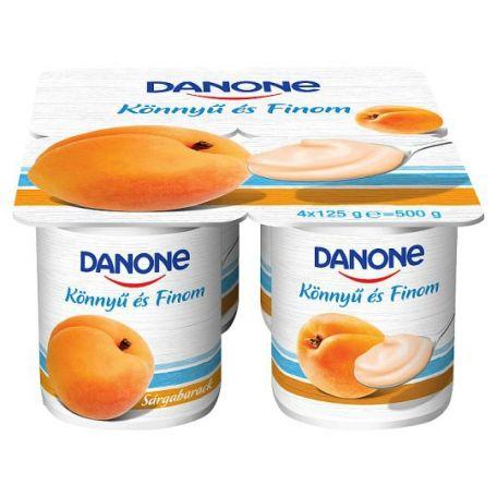 Danone könnyű és finom multipack sárgabarack ízű joghurt 4x125g