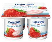 Joghurt eper könnyű és finom multipack danone 4*125gr