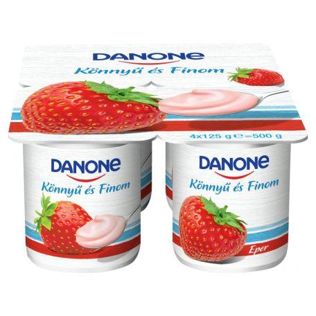 Danone könnyű és finom multipack eper ízű joghurt 4x125g