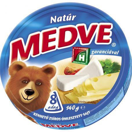 Medve natúr ömlesztett sajt cikkelyes 140g