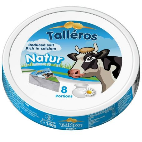 Talléros natúr félzsíros ömlesztett sajt cikkelyes 140g