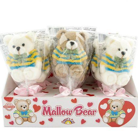 Teddy bear marshmallow pop /12db pillecukor nyalóka