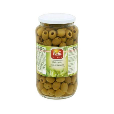 Zöld olívabogyó magozott 880/450g