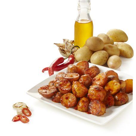 Aviko prémium hűtött felezett burgonya édes chilivel mogyoróhagymával marinált