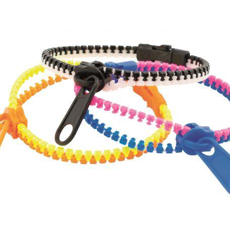 Zipper bracelet/24db cipzár karkötő cukorka