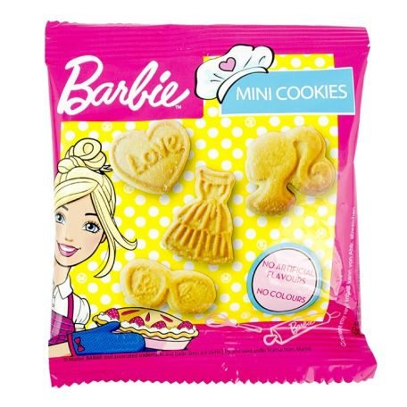Barbie Character cookies 12x20g