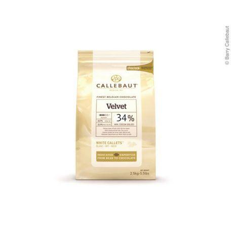 Callebaut fehércsokoládé pasztilla 34% 2,5kg