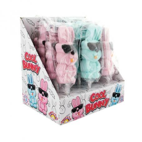 Cool bunny marshmallow pop 50g /12db nyuszis pillecukor nyalóka