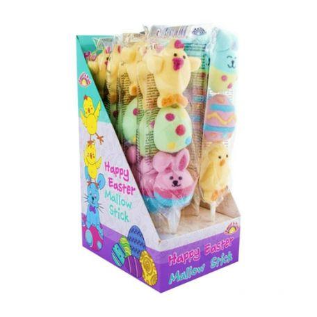 Easter marshmallow stick 33g/12db húsvéti pillecukor nyalóka
