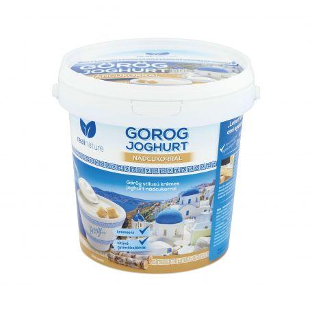 Real Nature görög joghurt nádcukros 10% 1l