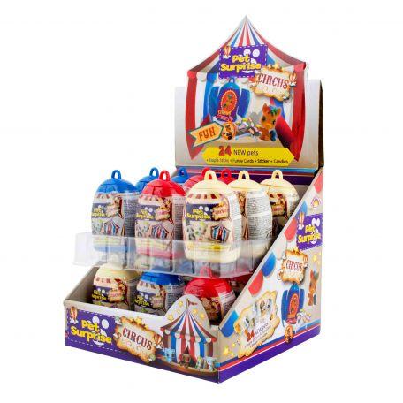 Pet surprise cirkus /18db meglepetés cirkusz cukorkával