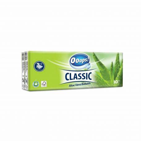 Ooops Classic aloe vera 3 rétegű papírzsebkendő 10x10