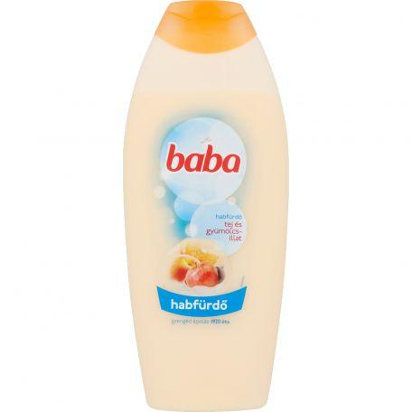 Baba krémhabfürdő tej és gyümölcs illattal 750ml