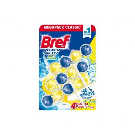 Bref power active juicy lemon wc illatosító 3x50g