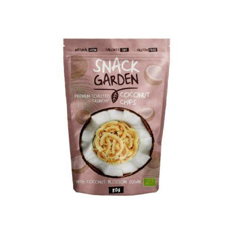 Snack Garden pirított kókuszdió chips kókuszvirág cukorral 80g