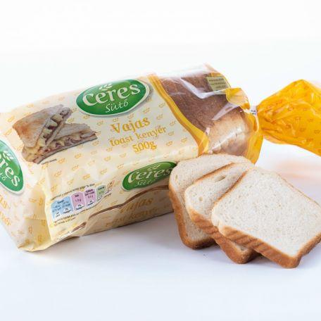 Ceres vajas toast kenyér szeletelt, csomagolt 500g