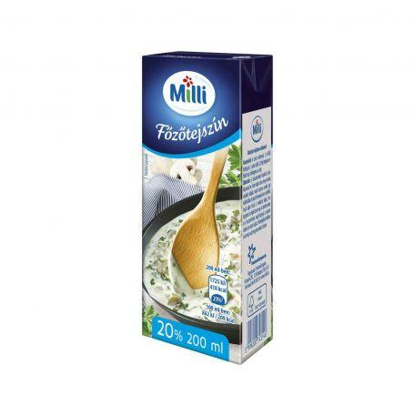 Milli UHT főzőtejszín 20% 200ml