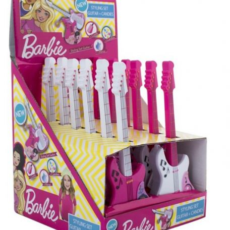 Barbie guitar kulcstartóval, fésűvel, tükörrel 12db