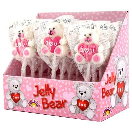 Jelly Bear Pop zselé nyalóka 12db