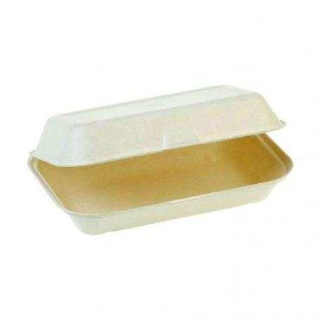 Komposztálható egyterű cukornád menübox 50db/csomag
