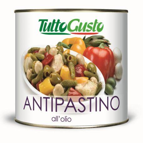 Konzerv napraforgóolajban olasz zöldségkeverék 2,45g (elo)