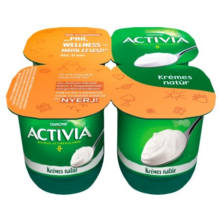 Activia natúr krémes multipack joghurt 4*125g