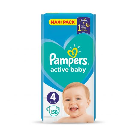 Pampers active baby maxi pelenka 7-14kg 58db