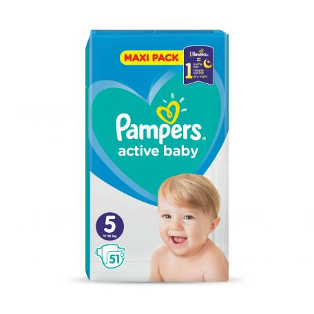 Pampers active baby junior pelenka 11-18kg 51db