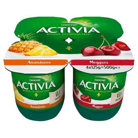 Activia multipack meggy-ananász joghurt 4x125g
