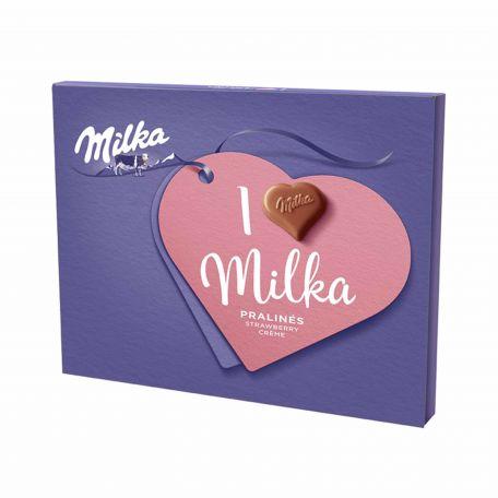 Milka epres desszert 110g SW.