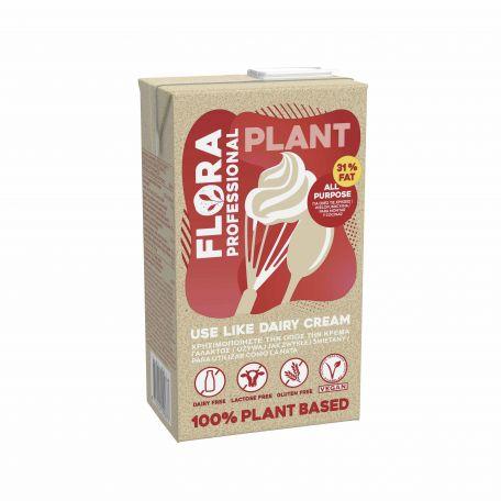 Flora Plant Cream UHT növényi vegán cukrozatlan főzőkrém és habalap 31% 1l