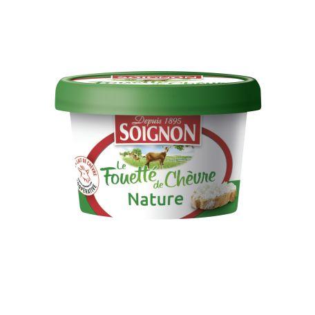 Soignon francia natúr kenhető kecskesajt habkrém 140g