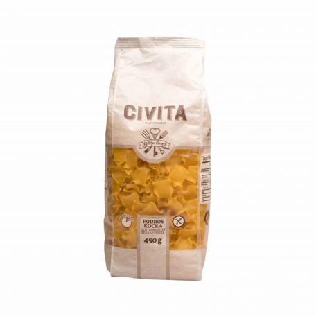 Civita gluténmentes fodros nagyokockai tészta 450g