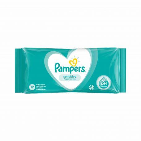 Pampers sensitive nedves törlőkendő 12db