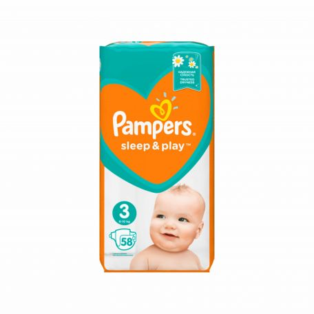 Pampers Sleep&Play midi pelenka 6-10kg 58db