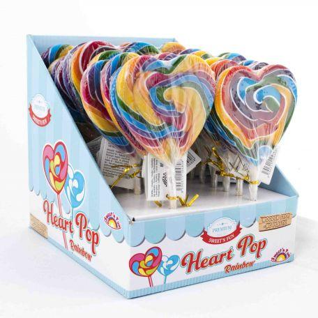 Heart pop rainbown 80g/22db nyalóka