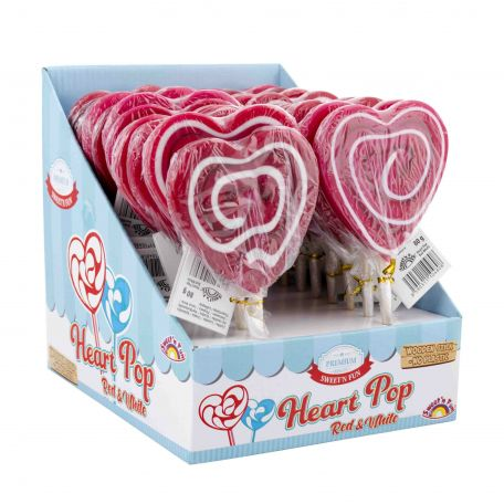 Heart pop red&white 80g/22db nyalóka