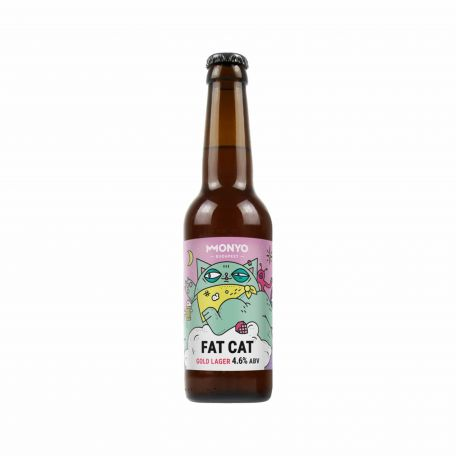 Monyo Fat Cat Golden Lager 4,2% 0,33l