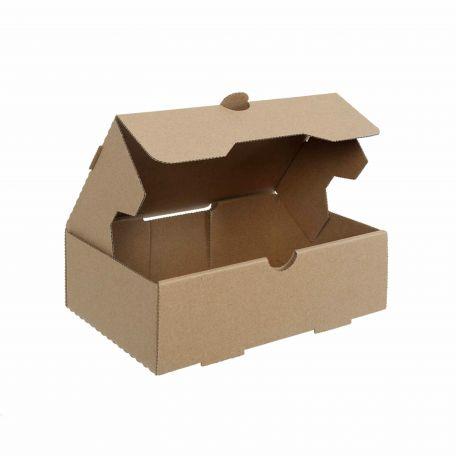Papír fedeles szendvics és hot-dog doboz 250x100x70