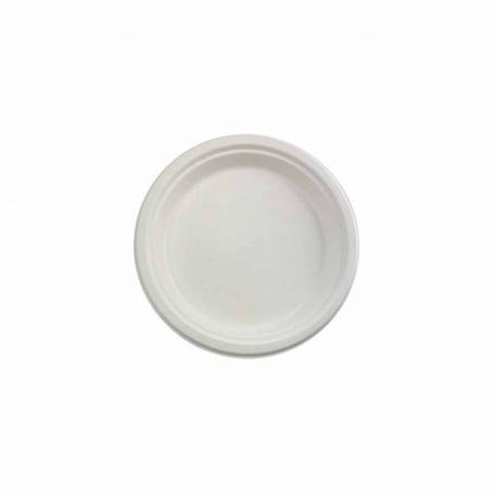 Komposztálható cukornád tányér 22,5cm 125db/csomag