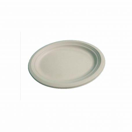 Komposztálható ovális cukornád tányér 125db/csomag