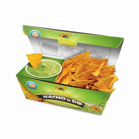 El Sabor avokádó nacho and dip tortilla chips 175g