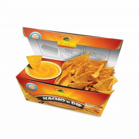 El Sabor sajtos nacho and dip tortilla chips 175g