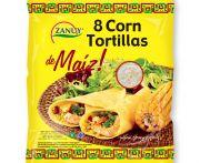 Tortilla kukoricás lágy 8db/cs 20cm 315gr
